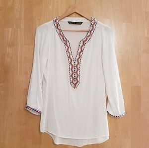Zara Beaded And Embroidered Tunic